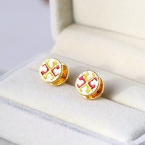 Tory Burch Simple And Stylish Two-Color Earrings